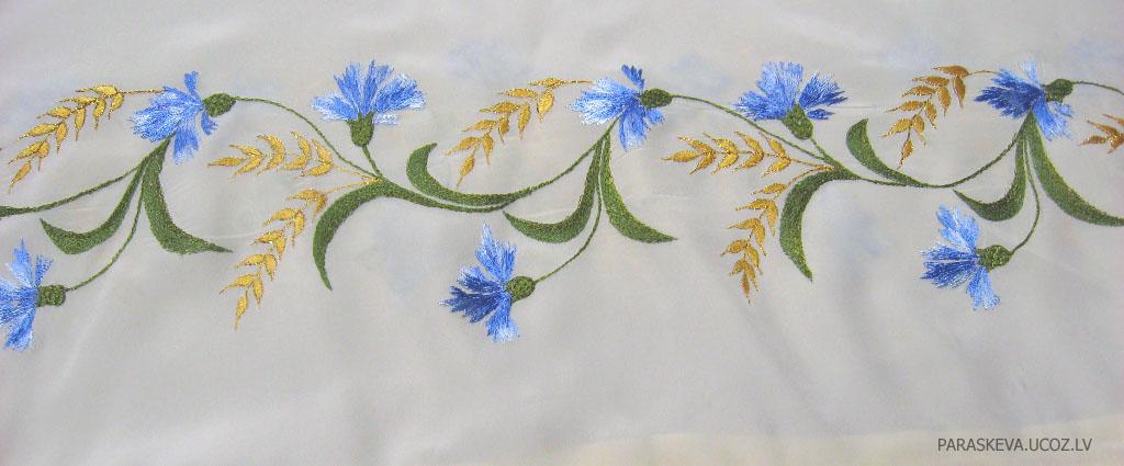 Рисунок для машинной вышивки васильки